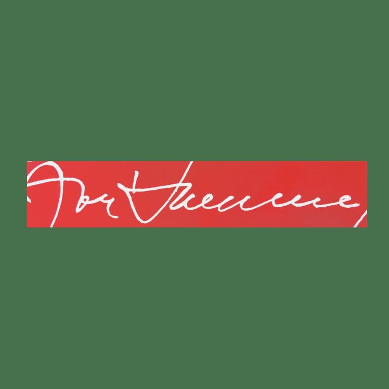 Marcador de livros - Assinatura (vermelho)