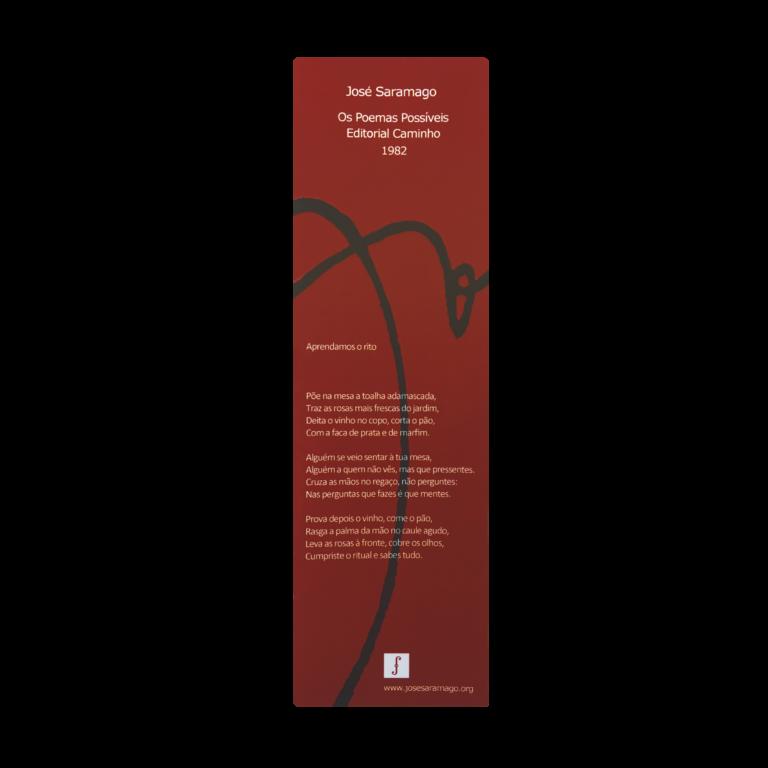 Marcador de livros - Os Poemas Possíveis